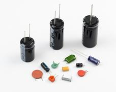 Different Types of Capacitors Stock Photos