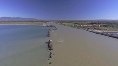 Travel in Tuscany - Fishing station near the mouth of Arno - Pisa, Italy Stock Footage
