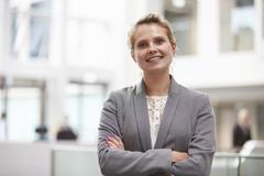 Head And Shoulders Portrait Of Businesswoman In Office Stock Photos