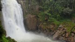 Close up of big water fall in Thailand nation park. Stock Footage