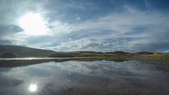 Clouds above the Ongi river, Mongolia. Full HD Stock Footage