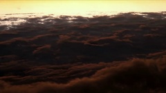 Flight above fluffy clouds Stock Footage
