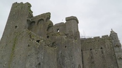 The old monastery ruins of Hore Abbey Stock Footage