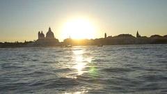 Sunset over Venice Stock Footage