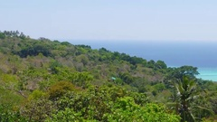 Panorama of Phi-Phi island, Krabi, Thailand, 4k Stock Footage