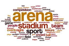 Arena word cloud Stock Illustration