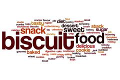 Biscuit word cloud Stock Illustration