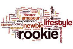 Rookie word cloud Stock Illustration