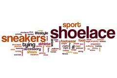 Shoelace word cloud Stock Illustration