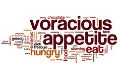 Voracious appetite word cloud Stock Illustration