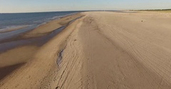 Northsee coast in the Netherlands Den Haag with beach Stock Footage