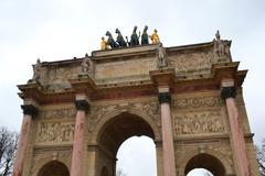 Arc de Triomphe du Caroussel, Paris Stock Photos