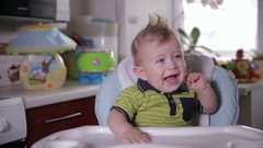 Naughty baby boy crying Stock Footage