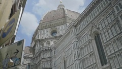 Street view under Cupola Florence - 25FPS PAL Stock Footage