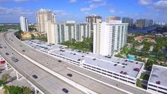 Aerial bridge causeway Stock Footage