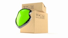 Packages with protective shield Stock Footage
