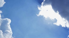 Blue sky and cumulus, clearance of cloud Stock Footage