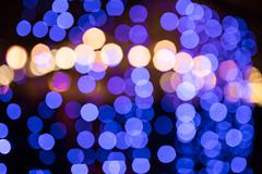Blurred sparkle blue lights Stock Photos