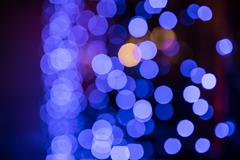 Blurred sparkle blue and purple lights Stock Photos