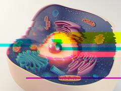 Animal cell glitch Stock Illustration