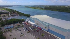 Aerial video Haulover Park Marina Stock Footage