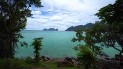 View of beautiful Koh Phi Phi island from Phi Phi Stock Footage