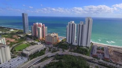 Amazing aerial Sunny Isles Beach FL Stock Footage