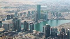 Dubai downtown, United Arab Emirates Stock Footage