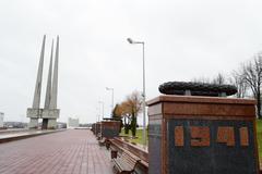 World War II Memorial in Vitebsk Stock Photos