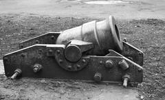Old cannon in Vitebsk, Belarus. Stock Photos