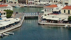Top view of the tourist center of the city. Stock Footage