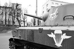 Soviet armored troop-carrier Stock Photos