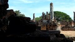 Historical park Ayutthaya, Thailand Stock Footage