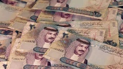 Bahrain - Arab Money - Zoom Out - Full to empty Stock Footage