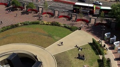 View from above of a Public square on a sunny day - Centenary Square Stock Footage