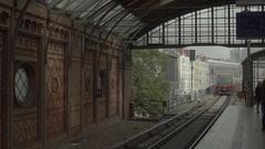 Berlin Hackescher Markt Station Train 4K Stock Footage