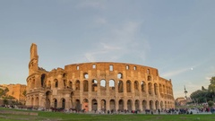 Time lapse of the coliseum rome Stock Footage
