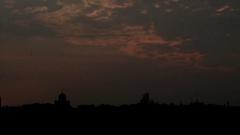 Sunset in Uzhgorod Stock Footage