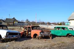 Old soviet cars Stock Photos