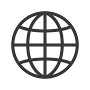 Planet sphere isolated icon Stock Illustration
