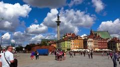 Warsaw. Old town. Architecture, old houses, streets and neighborhoods. Poland. Stock Footage