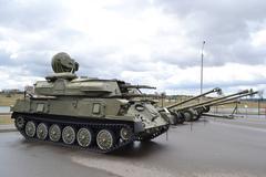 The soviet tanks Stock Photos