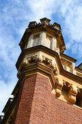 Architectural detail of old building in Petergof Stock Photos