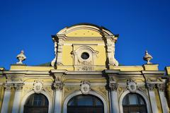 The facade of the palace in St. Petersburg Stock Photos