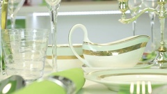 The saucers dishes Stock Footage
