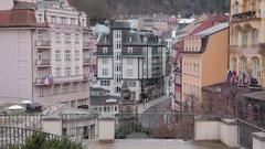 Karlovy Vary. City view. Stock Footage