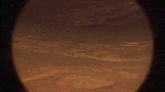 NASA Curiosity Rover Filming the Surface of Mars with Glitches and Noise Stock Footage