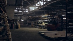 Loader in the storehouse Stock Footage