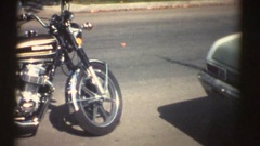 New Motorcycle, 8mm vintage home movies Stock Footage