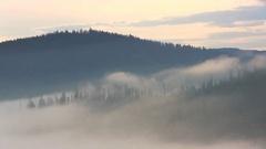 Mountain morning before sunrise. Stock Footage